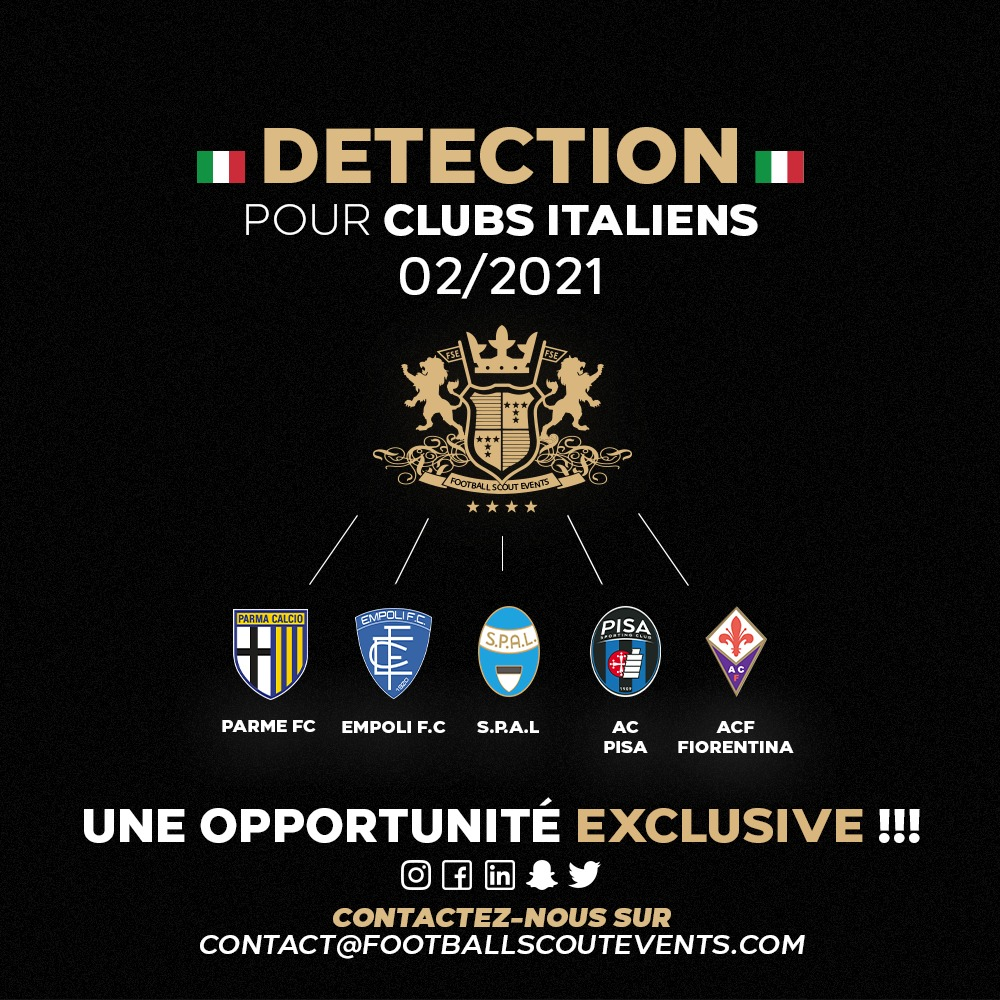détection clubs italiens