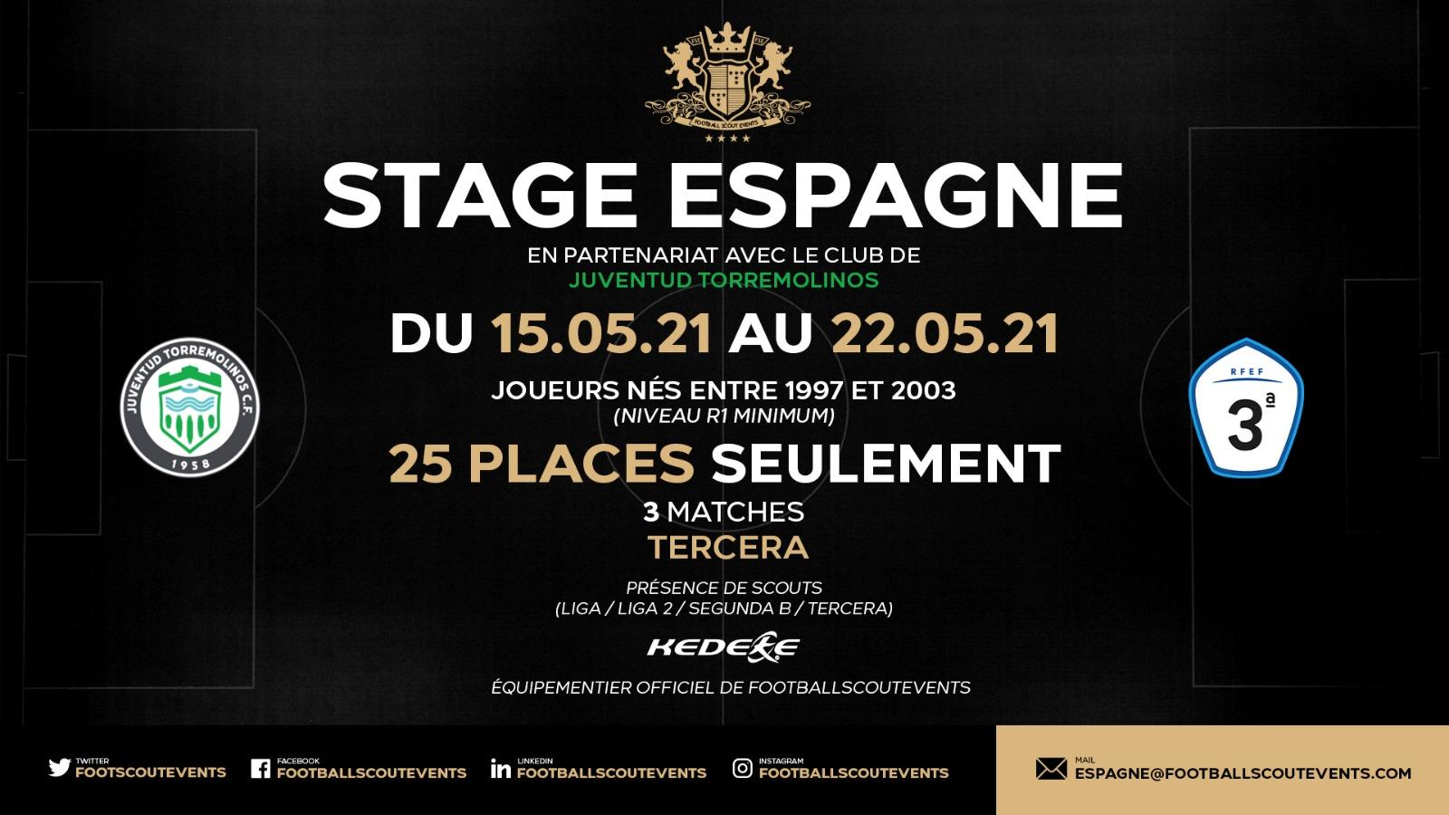 Stage Espagne 15 mai